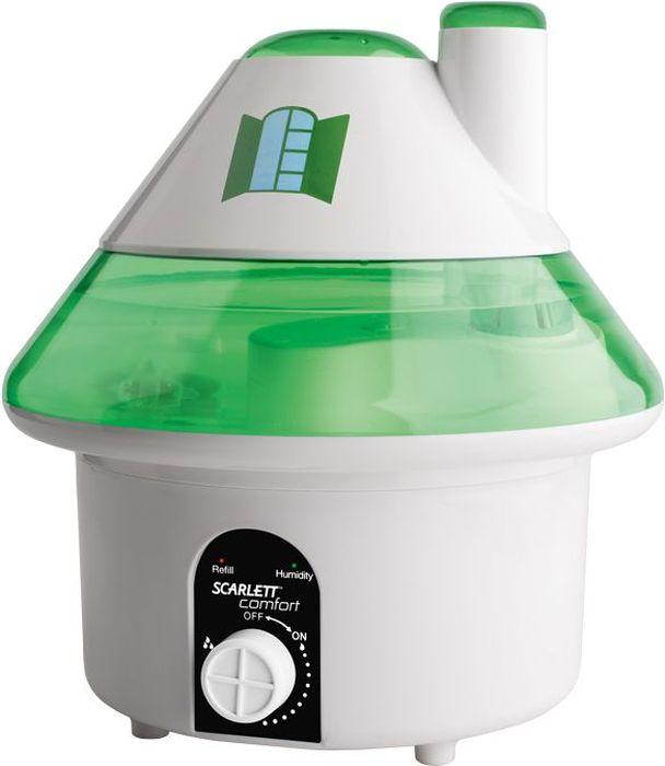 Scarlett SC-AH986M06, White Green увлажнитель воздухаSC-AH986M06Увлажнитель воздуха Scarlett SC-AH986M06 - незаменимый домашний прибор, который не только создает здоровыймикроклимат в доме, офисе и любом другом помещении, но и сохраняет комнатные растения, деревянную мебель видеальном состоянии. Сухой воздух в помещении на 20% увеличивает риск развития заболеваний дыхательных путей и приводит кухудшению зрения. Особенно стоит задуматься над приобретением увлажнителя семьям с маленькими детьми.Если в доме много комнатных растений, то для поддержания зелени и здоровья им просто необходимувлажненный воздух, ведь питаются они не только через корни, но и через листья. С этой задачей такжепрекрасно справляется увлажнитель воздуха Scarlett SC-AH986M06!