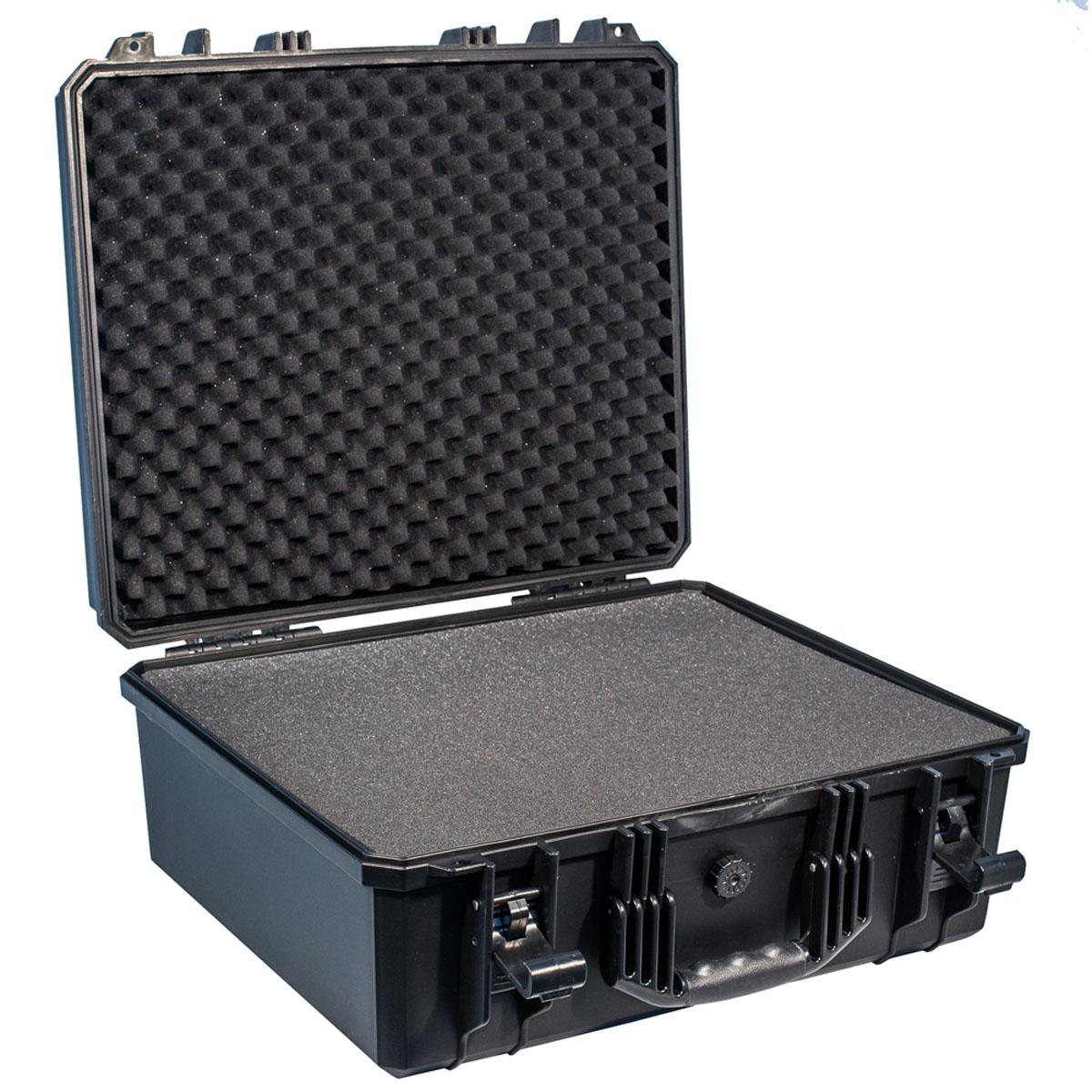 Кейс противоударный PRO-4x4 №7, влагозащищенный, 53,8 х 48,8 х 24,4 см, цвет: черныйPRO-BXF-B05348Самое широкое применение у кейсов №7 с наполнителем нашлось у профессионалов, которым нужно выезжать на объекты с диагностическим оборудованием илиточными измерительными приборами. Защищенные кейсы PRO-4x4 это надежный и проверенный способ сохранить в целостности дорогостоящее оборудование, требующее бережной транспортировки и гарантированной сохранности. Кейсы снабжены удобными и надежными ручками, в крышке имеется паз с резиновым уплотнением. Так же все кейсы PRO-4x4 имеют клапан выравнивания давления. Благодаря используемым материалам и технологии изготовления кейсы способны выдержать значительные ударные и статические нагрузки защищая свое содержимое от механических повреждений. Герметичность и пыле-влагозащищенность кейсов PRO-4x4 оградит дорогостоящую технику от агрессивной внешней среды и не позволит вывести ее из строя в процессе транспортировки. Великолепный внешний вид, потребительские свойства и непревзойдённое качество исполнения кейсов PRO-4x4 соответствуют запросам самых требовательных потребителей. В зависимости от выбранного размера кейс подойдет для хранения ценных документов, оружия, запасных частей и электронного оборудования. Область применения может быть самой различной, он одинаково хорошо покажет себя и во время внедорожного путешествия и в производственных процессах.