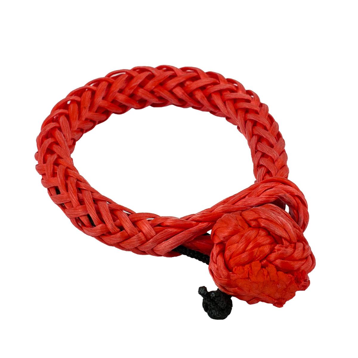 Софт-шакл PRO-4x4, цвет: красный, диаметр 8 ммPRO-SHS-000008Мягкий или софт-шакл изготовлен из синтетического троса и предназначен для крепления строп к проушинам автомобиля, а также соединению между собой тросов, удлинителей и т.п.Преимущества софт-шакла:Вес.Травмобезопасность при использовании в отношении людей и кузовных деталей.Отсутствие деталей и как следствие невозможность их потери.Возможность использования с проушинами сложной формы или малого размера.Прост в использовании, не закусывает при рывке и не требует наличия физической силы или инструмента.Не ржавеет.Технические характеристики:Материал - синтетический трос Dyneema 8 мм.Вес - 55 г.Максимальная нагрузка - до 5200 кг.Диапазон рабочих температур от -35° С до +55°С.Длина - 340 мм.Диаметр кольца - 80 мм.
