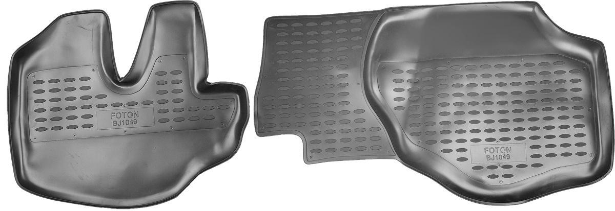 Коврики в салон автомобиля Novline-Autofamily, для Foton BJ1049 06/2007->, 2 штNLC.65.02.210Коврики в салон Novline-Autofamily не только улучшат внешний вид салона вашего автомобиля, но и надежно уберегут его от пыли, грязи и сырости, а значит, защитят кузов от коррозии. Полиуретановые коврики для автомобиля гладкие, приятные и не пропускают влагу. Автомобильные коврики в салон учитывают все особенности каждой модели и полностью повторяют контуры пола. Благодаря этому их не нужно будет подгибать или обрезать. И самое главное - они не будут мешать педалям.Полиуретановые автомобильные коврики для салона произведены из высококачественного материала, который держит форму и не пачкает обувь. К тому же, этот материал очень прочный (его, к примеру, не получится проткнуть каблуком).Некоторые автоковрики становятся источником неприятного запаха в автомобиле. С полиуретановыми ковриками Novline-Autofamily вы можете этого не бояться.Коврики для автомобилей надежно крепятся на полу и не скользят, что очень важно во время движения, особенно для водителя.Коврики из полиуретана надежно удерживают грязь и влагу, при этом всегда выглядят довольно опрятно. И чистятся они очень просто: как при помощи автомобильного пылесоса, так и различными моющими средствами.