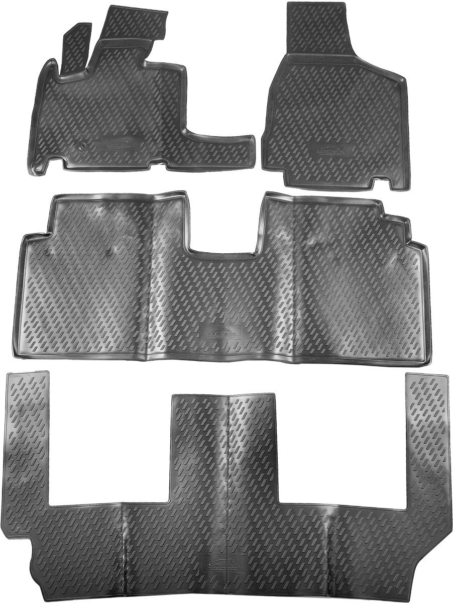 Коврики в салон автомобиля Novline-Autofamily, для Chrysler Grand Voyager RT 2008->, 4 штCARCHR00001Коврики в салон Novline-Autofamily не только улучшат внешний вид салона вашего автомобиля, но и надежно уберегут его от пыли, грязи и сырости, а значит, защитят кузов от коррозии. Полиуретановые коврики для автомобиля гладкие, приятные и не пропускают влагу. Автомобильные коврики в салон учитывают все особенности каждой модели и полностью повторяют контуры пола. Благодаря этому их не нужно будет подгибать или обрезать. И самое главное - они не будут мешать педалям.Полиуретановые автомобильные коврики для салона произведены из высококачественного материала, который держит форму и не пачкает обувь. К тому же, этот материал очень прочный (его, к примеру, не получится проткнуть каблуком).Некоторые автоковрики становятся источником неприятного запаха в автомобиле. С полиуретановыми ковриками Novline-Autofamily вы можете этого не бояться.Коврики для автомобилей надежно крепятся на полу и не скользят, что очень важно во время движения, особенно для водителя.Коврики из полиуретана надежно удерживают грязь и влагу, при этом всегда выглядят довольно опрятно. И чистятся они очень просто: как при помощи автомобильного пылесоса, так и различными моющими средствами.