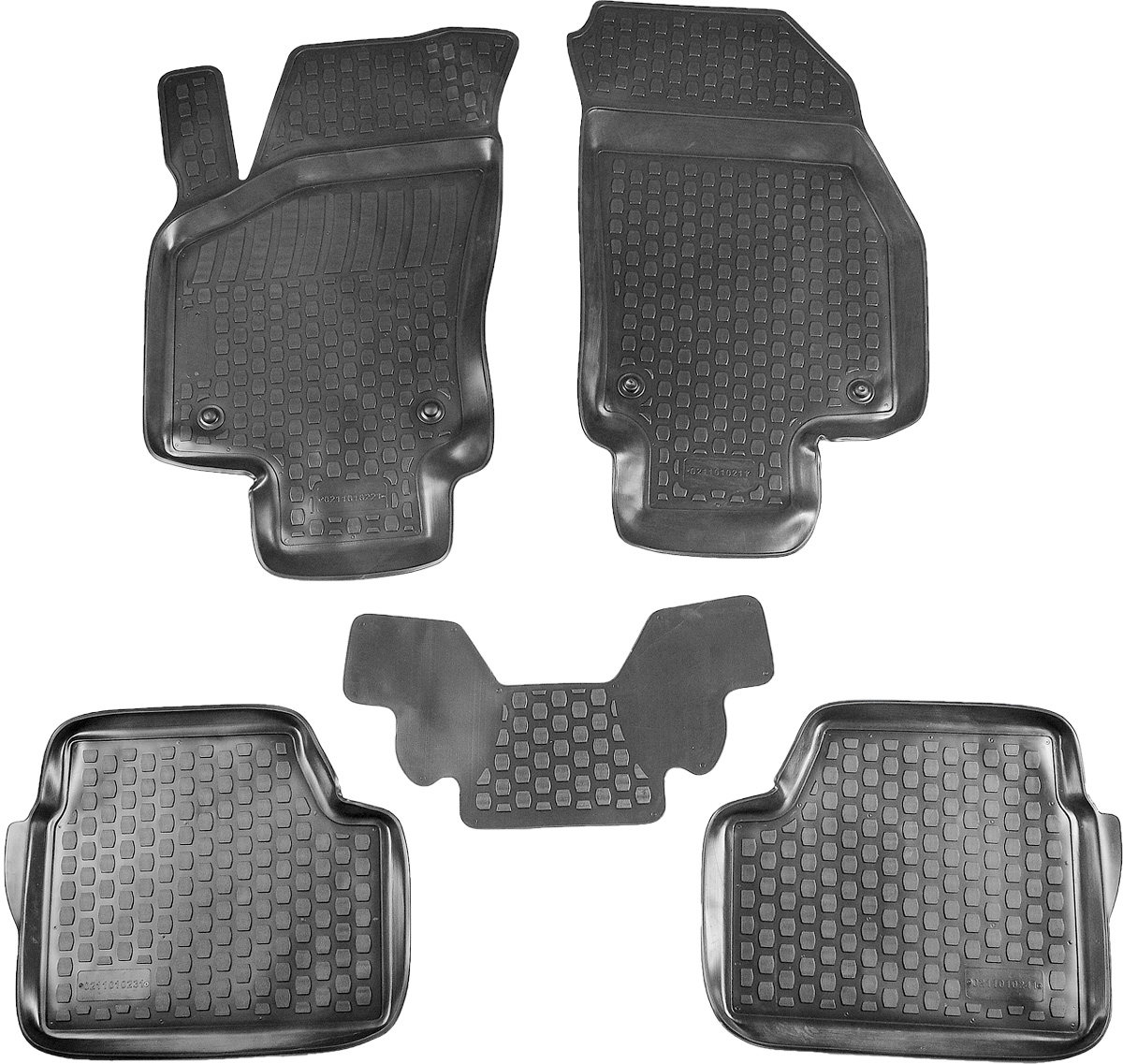 Коврик в салон автомобиля L.Locker, для Opel Astra H hb (04-), 5 шт0211011101Коврики L.Locker производятся индивидуально для каждой модели автомобиля из современного и экологически чистого материала. Изделия точно повторяют геометрию пола автомобиля, имеют высокий борт, обладают повышенной износоустойчивостью, антискользящими свойствами, лишены резкого запаха и сохраняют свои потребительские свойства в широком диапазоне температур (от -50°С до +80°С). Рисунок ковриков специально спроектирован для уменьшения скольжения ног водителя и имеет достаточную глубину, препятствующую свободному перемещению жидкости и грязи на поверхности. Одновременно с этим рисунок не создает дискомфорта при вождении автомобиля. Водительский ковер с предустановленными креплениями фиксируется на штатные места в полу салона автомобиля. Новая технология системы креплений герметична, не дает влаге и грязи проникать внутрь через крепеж на обшивку пола.