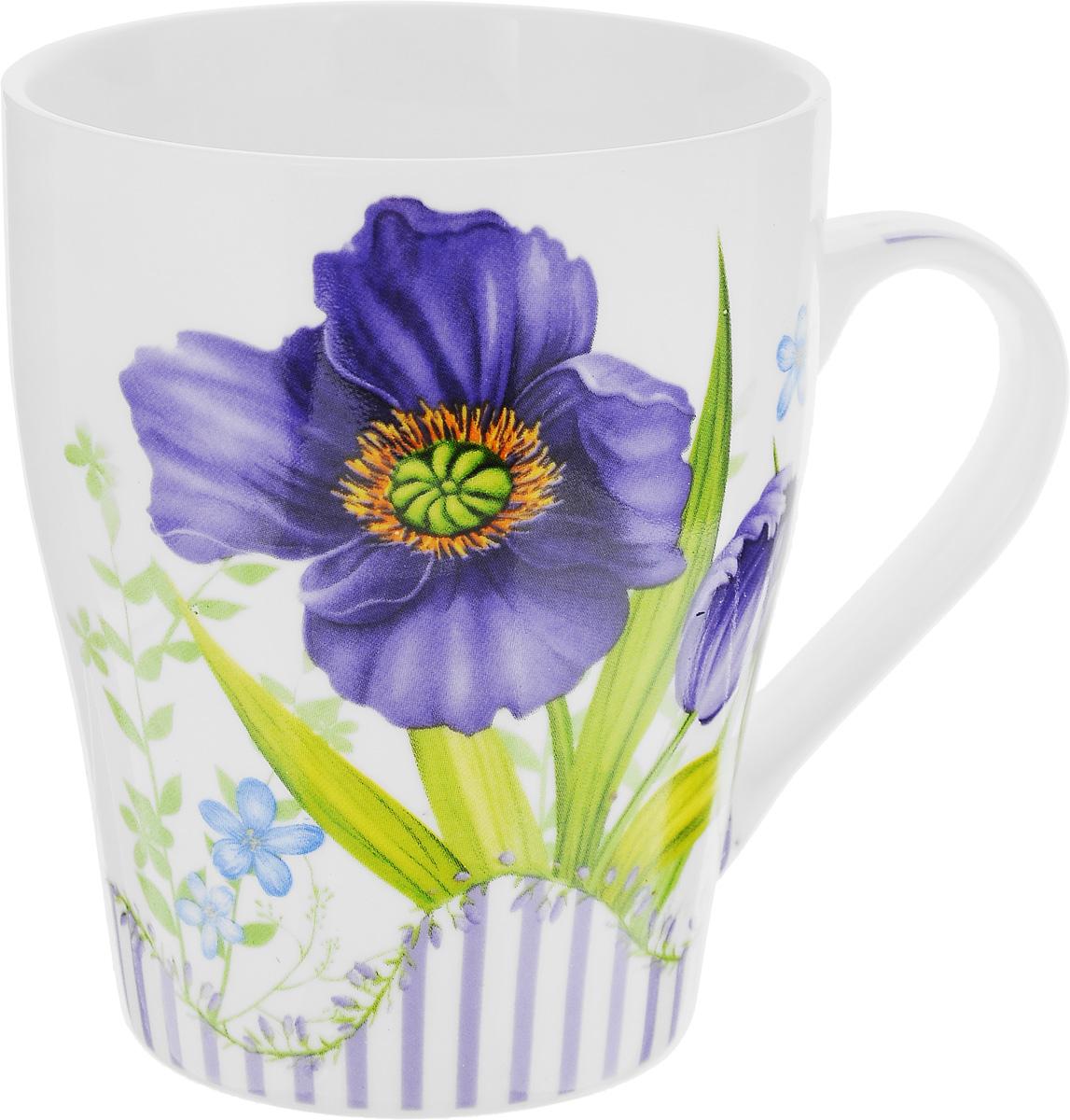 Кружка Loraine Цветок, цвет: белый, фиолетовый, зеленый, 340 мл24466_фиолетовыйКружка Loraine Цветок изготовлена извысококачественного фарфора.Изделие оформлено изображением цветов. Такаякружка станет приятнымсувениром и обязательно порадует вас и вашихблизких.Объем: 340 мл.Диаметр кружки (по верхнему краю): 8 см.Высота кружки: 10 см.
