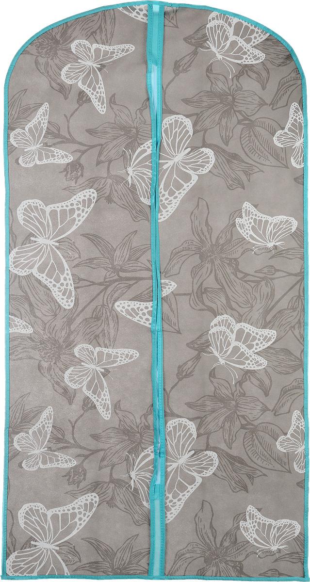 Чехол для одежды Бабочки, 60 х 120 смFS-6502MЧехол для одежды Бабочки, изготовленный из высококачественного нетканого материала, защитит вашу одежду от пыли и других загрязнений, а также поможет надолго сохранить ее безупречный вид. Благодаря особой фактуре чехол не пропускает пыль, но в то же время позволяет воздуху свободно проникать внутрь, обеспечивая естественную вентиляцию. Материал легок и удобен, не образует складок. Чехол закрывается на застежку-молнию. Оригинальный дизайн сделает вашу гардеробную красивой и невероятно стильной.