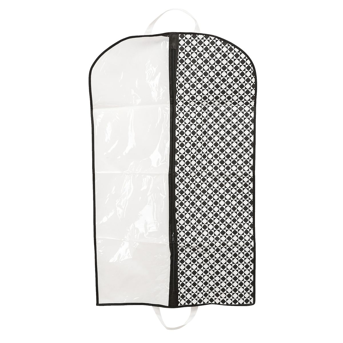 Чехол для одежды Homsu Maestro, подвесной, с прозрачной вставкой, 100 х 60 смHOM-388Подвесной чехол для одежды Homsu Maestro на застежке-молнии выполнен из высококачественного нетканого материала. Чехол снабжен прозрачной вставкой из ПВХ, что позволяет легко просматривать содержимое. Изделие подходит для длительного хранения вещей.Чехол обеспечит вашей одежде надежную защиту от влажности, повреждений и грязи при транспортировке, от запыления при хранении и проникновения моли. Чехол позволяет воздуху свободно поступать внутрь вещей, обеспечивая их кондиционирование. Это особенно важно при хранении кожаных и меховых изделий.Чехол для одежды Homsu Maestro создаст уютную атмосферу в гардеробе. Лаконичный дизайн придется по вкусу ценительницам эстетичного хранения и сделают вашу гардеробную изысканной и невероятно стильной.Размер чехла: 100 х 60 см.