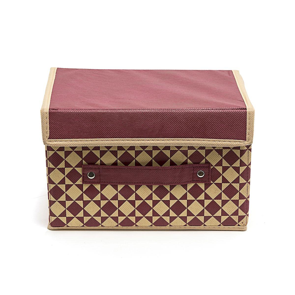 Коробка для хранения Homsu Bordo, 19 х 25 х 16 смHOM-395Вместительная коробка для хранения Homsu Bordo выполнена из плотного картона. Изделие обладает удобным размером и привлекательным дизайном, выполненным в приятной цветовой гамме. Внутри коробки можно хранить фотографии, ткани, принадлежности для хобби, памятные сувениры и многое другое. Крышка изделия удобно открывается и закрывается.Коробка для хранения Homsu Bordo станет незаменимой помощницей в путешествиях.