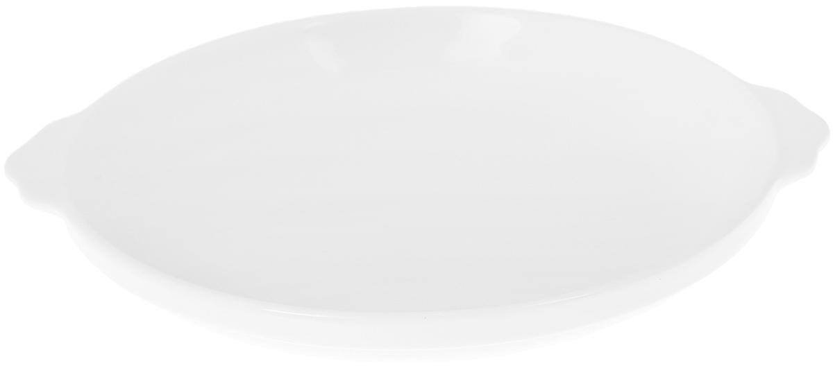 Блюдо Wilmax, диаметр 20,5 смWL-997003 / AОригинальное блюдо Wilmax, изготовленное из высококачественного фарфора, оснащено двумя удобными ручками. Изделие прекрасно подойдет для порционной подачи нарезок, закусок и других блюд. Блюдо Wilmax украсит ваш кухонный стол, а также станет замечательным подарком к любому празднику. Можно мыть в посудомоечной машине и использовать в микроволновой печи.Ширина блюда (с учетом ручек): 23 см.Диаметр блюда (по верхнему краю): 20,5 см.Высота блюда: 3,5 см.
