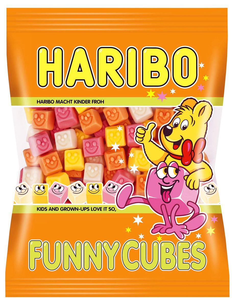 Haribo Кубики-смешинки жевательный мармелад, 100 г haribo червячки вуммис жевательный мармелад 140 г
