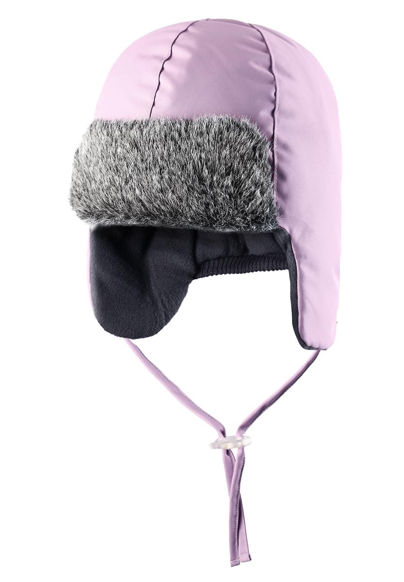 Шапка детская Lassie, цвет: розовый. 718701-5120. Размер 50718701-5120Готовы к веселым зимним прогулкам? Эта очень мягкая и теплая шапка для новорожденных – превосходный аксессуар для холодных зимних деньков. Ветронепроницаемые вставки в области ушей обеспечивают ушкам дополнительную защиту, а мягкая флисовая подкладка очень приятна на ощупь.