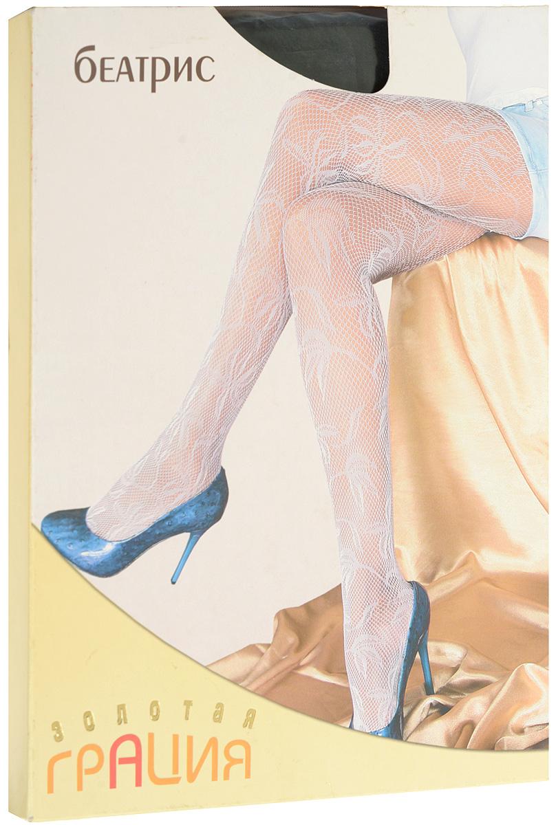 Колготки женские Золотая Грация Беатрис, цвет: черный. Размер 3/4 (44/46) колготки золотая грация роза 60 цвет мокко размер 2