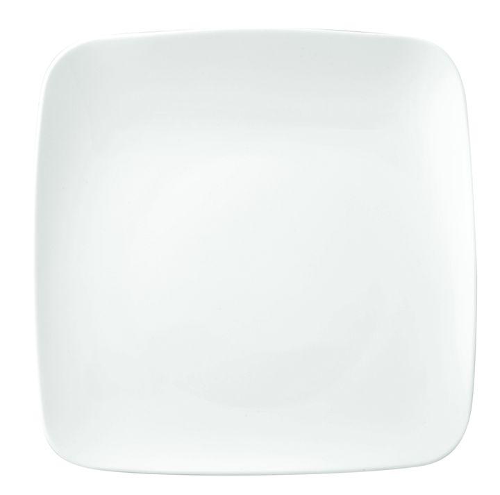 """Оригинальная тарелка Ariane """"Vital Square"""" изготовлена из высококачественного фарфора с глазурованным покрытием. Изделие квадратной формы  идеально подходит для сервировки закусок и других блюд. Такая тарелка прекрасно впишется в интерьер вашей кухни и станет достойным  дополнением к кухонному инвентарю.  Можно мыть в посудомоечной машине и использовать в микроволновой печи."""