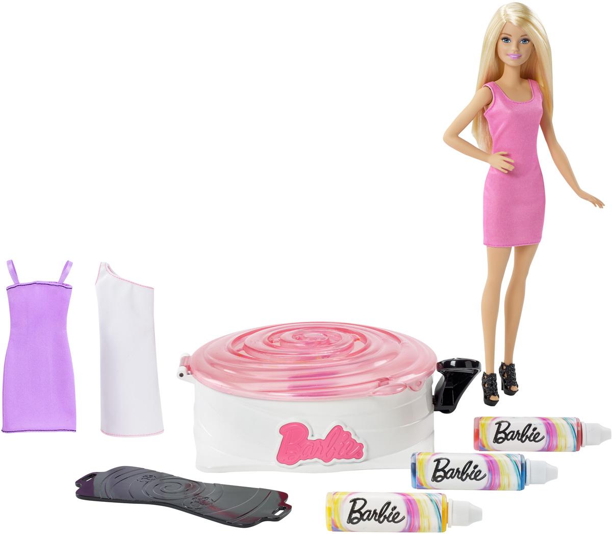 Barbie Игровой набор с куклой Студия цветных нарядов