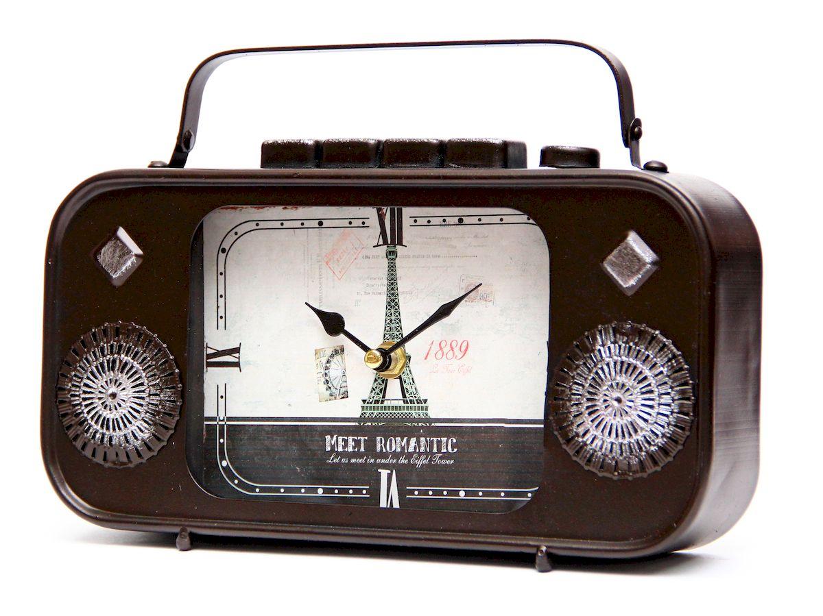 Часы настольные Magic Home Радио, кварцевые, цвет: черный часы настольные magic home часы настольные чашка кофе