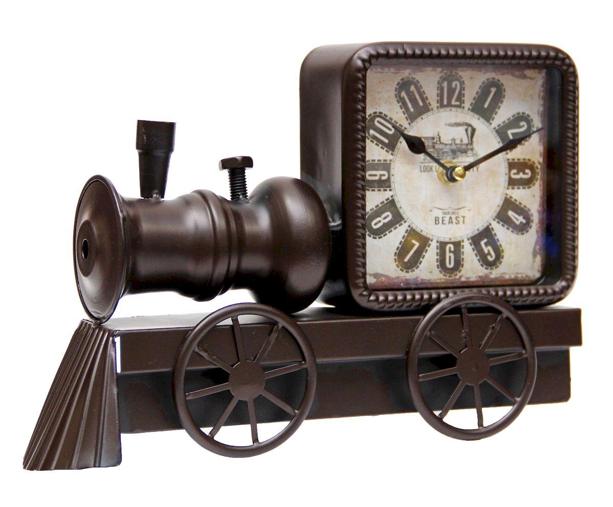 Часы настольные Magic Home Паровоз, кварцевые, цвет: черный часы настольные magic home часы настольные чашка кофе