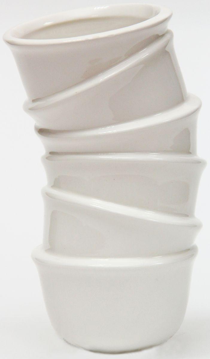 Ваза декоративная Magic Home, цвет: белый, 9,1 х 8,2 х 15,4 см ваза mughal s 18 х 18 х 24 см