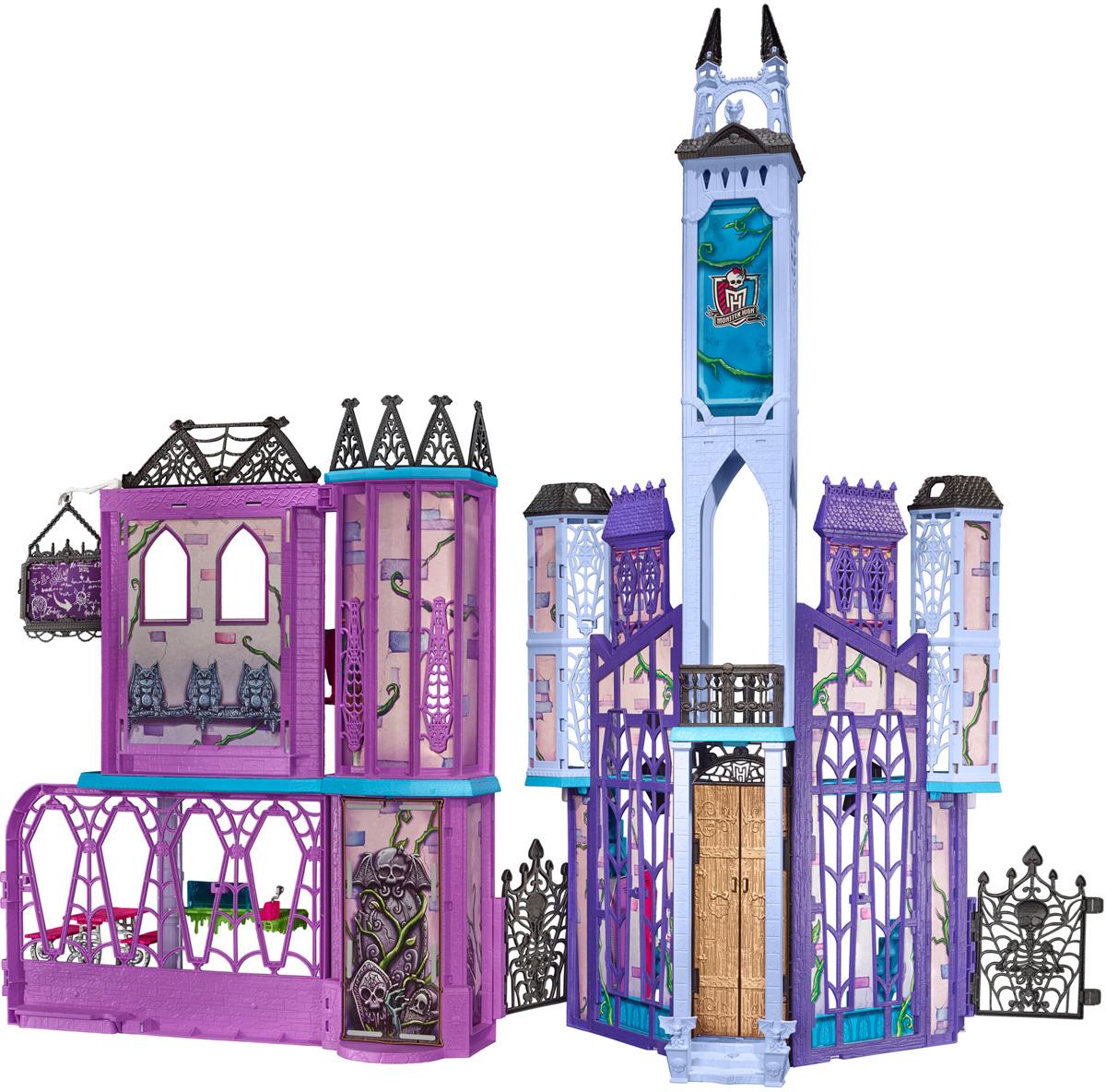 Monster High Дом для кукол Школа Монстров giromax набор для лепки monster high clawdeen wolf