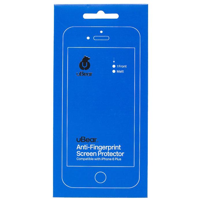 uBear защитная пленка для iPhone 6 Plus/6s Plus, матоваяSP01MA01-I6PМатовая защитная пленка uBear для iPhone 6 Plus/6s Plus - одна из немногих пленок на рынке с твердостью 4H, что обеспечивает отличную защиту экрана вашего устройства от царапин. Инновационное матовое покрытие гарантирует отсутствие отпечатков пальцев. Пленка не препятствует прохождению сенсорного сигнала.