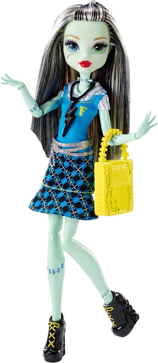 Monster High Кукла Френки Штейн цвет платья голубой куклы монстер хай купить эбби и хит видео