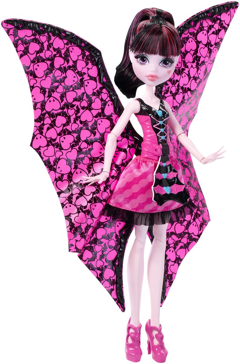Monster High Кукла Дракулаура в трансформирующемся наряде monster high кукла дракулаура цвет платья розовый черный