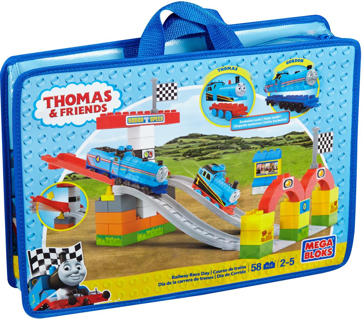 Mega Bloks Thomas & Friends Конструктор Железнодорожная гонка конструкторы mega bloks томас и друзья томас и гарольд
