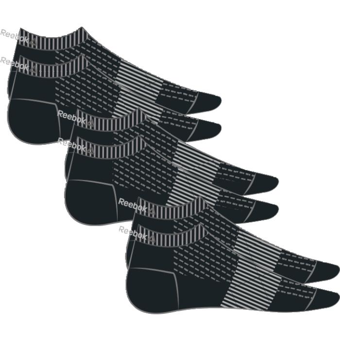 Носки Reebok Se U Inside Sock, 3 пары, цвет: черный. AJ6239. Размер (35/38)AJ6239Носки отлично сидят на ноге и эффективно отводят лишнюю влагу. Идеальный вариант как для тренировки, так и для повседневной носки. Дополнительная поддержка свода стопы гарантирует надежную посадку по ноге. Низкий дизайн не стесняет движений. Отлично сидят на ноге благодаря манжетам в рубчик и дополнительной поддержке свода стопы. Сетчатые вставки обеспечивают вентиляцию. Три пары в упаковке.