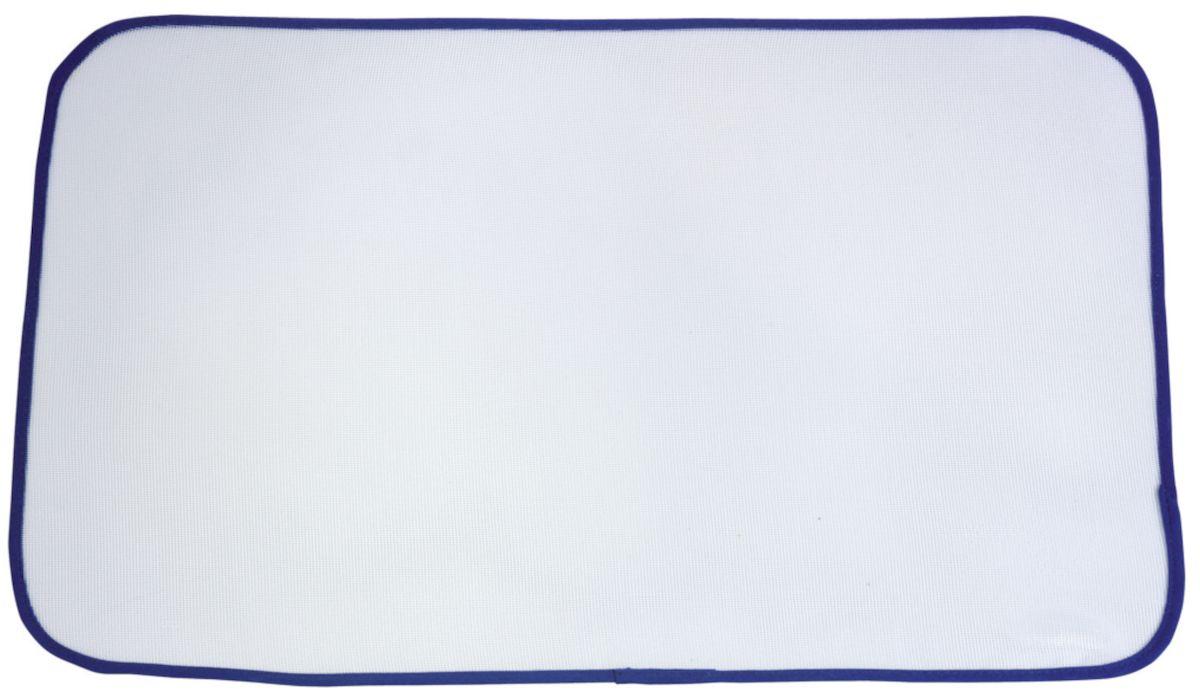 Ткань для глажения Leifheit, 60 х 40 см72415Защитная ткань для глажения Leifheit надежно защищает даже самые деликатные ткани. Прозрачный сетчатый материал позволяет видеть утюжимый участок, гарантируя высокое качество глажения. Современная альтернатива классической марле. Особенности: Предупреждает появление во время глажения лоснящихся пятен на белье; Идеальное решение для глажения изделий из деликатных тканей (шелка, нейлона, вельвета, велюра); Благодаря прозрачной сетчатой ткани утюжимый участок хорошо просматривается, что гарантирует качество и безопасность глажения; Не подходит для глажения при температуре выше 200°C.Размер ткани: 60 х 40 см.