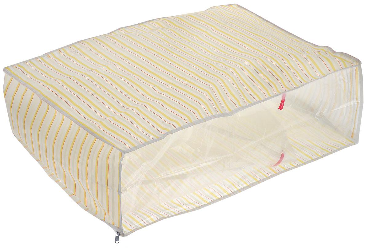 Чехол для хранения Eva, цвет: оранжевый, желтый, 60 х 40 х 20 смЕ-5201_желтый, красный, белыйУдобный чехол на застежке-молнии Eva изготовлен из прочного, водонепроницаемого, легкого в уходе материала PEVA. Он обеспечит надежное хранение вашей одежды и различных вещей, защитит от повреждений, пыли, грязи и UV-излучений во время хранения и транспортировки. Изделие оснащено прозрачной стенкой, благодаря которой вы без труда определите содержимое чехла. Изделие можно стирать при температуре до 40°C.