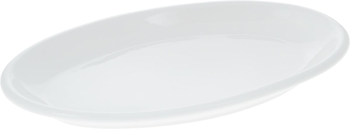 Блюдо Wilmax, 30 х 17,5 смWL-992128 / AОригинальное овальное блюдо Wilmax, изготовленное из фарфора с глазурованным покрытием, прекрасноподойдет для подачи нарезок, закусок и других блюд. Фарфор от Wilmax изготовлен по уникальному рецепту из сплава магния и алюминия, благодаря чему посуда обладает характерной белизной, прочностью и устойчивостью к сколами. Особый состав глазури обеспечивает гладкость и блеск поверхности изделия.Блюдо украсит ваш кухонный стол, а также станет замечательным подарком к любому празднику.Можно мыть в посудомоечной машине и использовать в микроволновой печи. Изделие пригодно для использования в духовых печах и выдерживает температуру до 300°С.