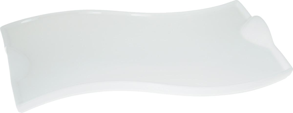 """Оригинальное блюдо """"Wilmax"""", изготовленное из фарфора с  глазурованным покрытием, прекрасно  подойдет для подачи нарезок, закусок и других  блюд. Оно украсит ваш кухонный стол, а также станет  замечательным подарком к любому празднику. Размер блюда: 36 х 21 см."""