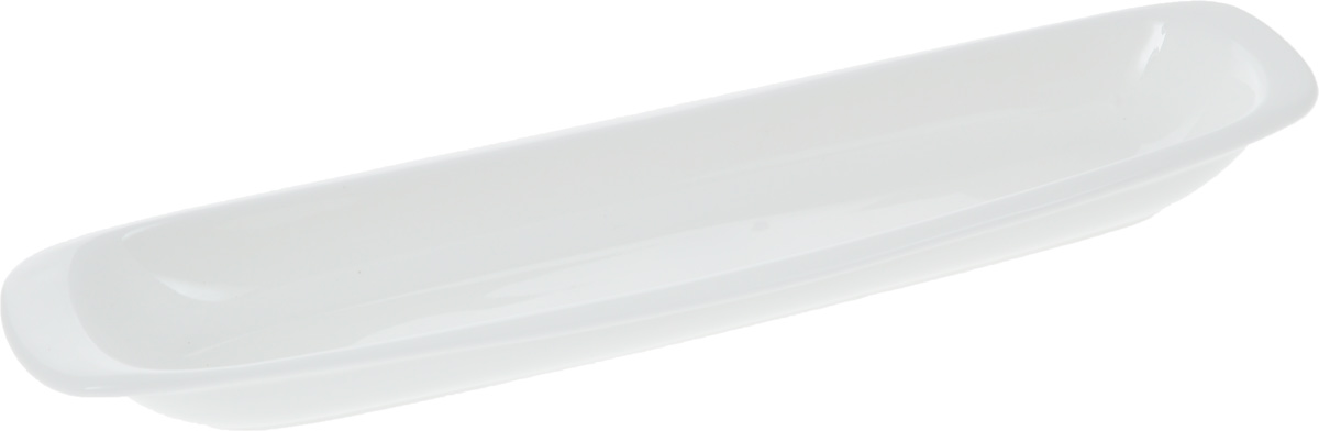 """Оригинальное блюдо """"Wilmax"""", изготовленное из фарфора с глазурованным покрытием, прекрасноподойдет для подачи нарезок, закусок и других блюд. Фарфор от """"Wilmax"""" изготовлен по уникальному рецепту из сплава магния и алюминия, благодаря чему посуда обладает характерной белизной, прочностью и устойчивостью к сколами. Особый состав глазури обеспечивает гладкость и блеск поверхности изделия.Оно украсит ваш кухонный стол, а также станет замечательным подарком к любому празднику.  Можно мыть в посудомоечной машине и использовать в микроволновой печи. Изделие пригодно для использования в духовых печах и выдерживает температуру до 300°С."""
