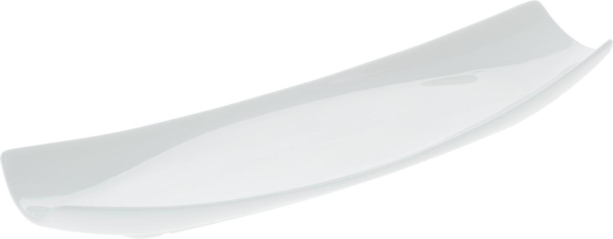 Блюдо Wilmax, 30 х 10 смWL-992622 / AОригинальное прямоугольное блюдо Wilmax, изготовленное из фарфора с глазурованным покрытием, прекрасноподойдет для подачи нарезок, закусок и других блюд. Фарфор от Wilmax изготовлен по уникальному рецепту из сплава магния и алюминия, благодаря чему посуда обладает характерной белизной, прочностью и устойчивостью к сколами. Особый состав глазури обеспечивает гладкость и блеск поверхности изделия.Блюдо украсит ваш кухонный стол, а также станет замечательным подарком к любому празднику.Можно мыть в посудомоечной машине и использовать в микроволновой печи. Изделие пригодно для использования в духовых печах и выдерживает температуру до 300°С.