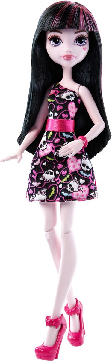 Monster High Кукла Дракулаура цвет платья розовый черный детские наклейки монстер хай monster high альбом наклеек