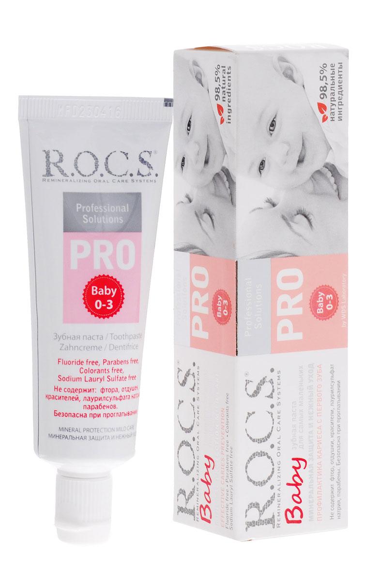 R.O.C.S. Детская зубная паста Минеральная защита и нежный уход от 0 до 3 лет 35 мл