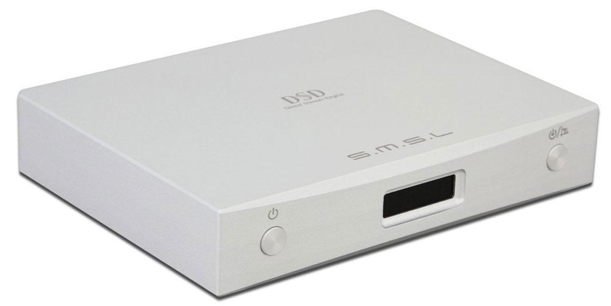 SMSL M8, Silver усилитель для наушников6970141850120SMSL M8 – это портативный аудио ЦАП, созданный на основе чипа Sabre ES9018K2M. Несмотря на свои размеры M8 отличается отличной функциональностью. В нем предусмотрено 3 входа: USB, коаксиальный и оптический. Устройство поддерживает такие форматы высокого разрешения, как PCM и DSD64/128.Уровень выходной мощности: 2,15 VrmsСоотношение сигнал/шум: >126 дБРазделение каналов: >120 дБ