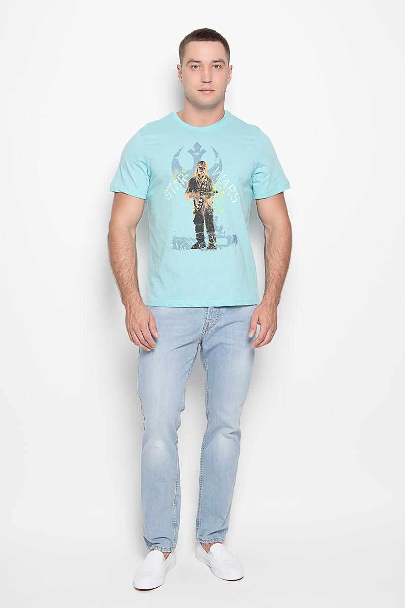 Футболка мужская RHS Star Wars, цвет: ментоловый. 42974. Размер XXL (54) футболка мужская rhs star wars цвет ментоловый 42962 размер xxl 54