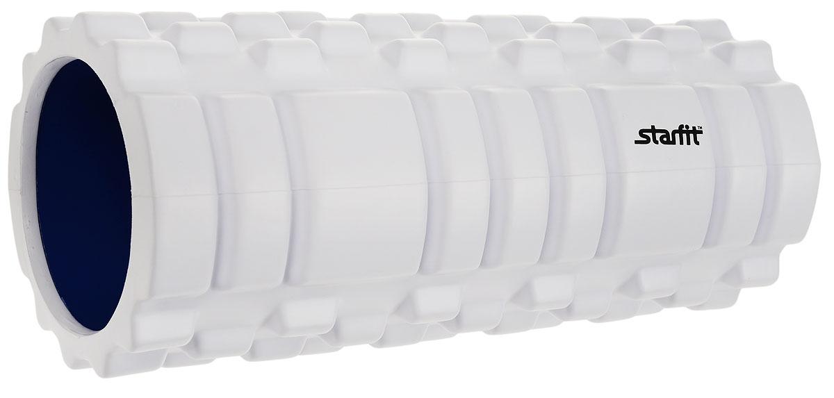 Ролик массажный Starfit  FA-503 , цвет: белый, синий, 33 х 14 х 14 см - Фитнес