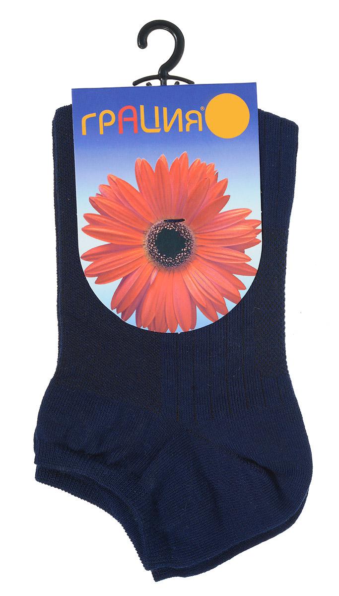 Носки женские Грация, цвет: темно-синий. М 1405. Размер 1 (35/37) носки женские грация цвет телесный м1059 размер 35 37