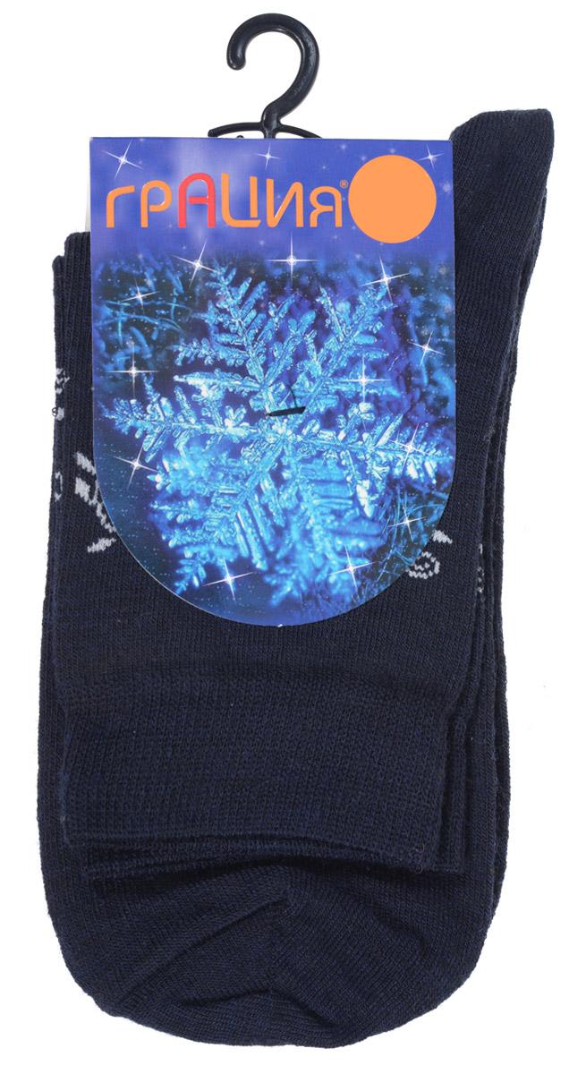 Носки женские Грация, цвет: темно-синий. М 1114. Размер 35/37М 1114Женские носки Грация выполнены из тонкой шерсти с добавлением полиамида и лайкры. Материал мягкий и приятный на ощупь, хорошо пропускает воздух. Эластичная резинка мягко облегает ногу, обеспечивая комфорт при носке. Изделие оформлено круговым рисунком с узорами.Теплые и удобные носки станут отличным дополнением к вашему гардеробу!