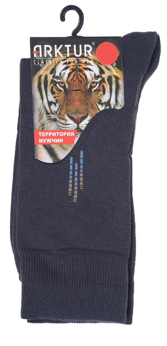 Носки мужские Arktur, цвет: темно-серый. J 008. Размер 40/42J 008Мужские носки Arktur с удлиненным паголенком изготовлены из хлопка с небольшим добавлением полиамида и лайкры. Комфортная широкая резинка пресс-контроль не сдавливает и комфортно облегает ногу. Идеальное сочетание практичности, легкости и комфорта.Удобные носки станут отличным дополнением к вашему гардеробу.
