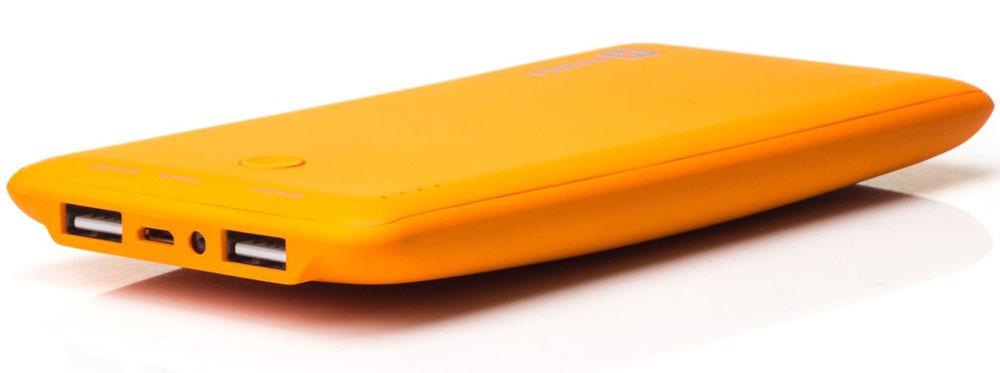 Harper PB-10001, Orange внешний аккумуляторH00000959Внешний аккумулятор может похвастаться внушительной емкостью - 10000 мАч. Этого достаточно для полной подзарядки пяти смартфонов. Девайс оснащен двумя полноразмерными USB-портами, поэтому вы сможете сэкономить время и подзарядить сразу несколько устройств. Об уровне заряда сообщает специальный LED-индикатор. Кроме того, аккумулятор оснащен встроенным фонариком, что является весьма приятным бонусом.