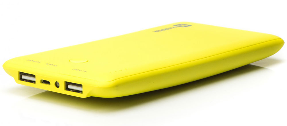 Harper PB-10001, Yellow внешний аккумуляторH00000957Внешний аккумулятор может похвастаться внушительной емкостью - 10000 мАч. Этого достаточно для полной подзарядки пяти смартфонов. Девайс оснащен двумя полноразмерными USB-портами, поэтому вы сможете сэкономить время и подзарядить сразу несколько устройств. Об уровне заряда сообщает специальный LED-индикатор. Кроме того, аккумулятор оснащен встроенным фонариком, что является весьма приятным бонусом.