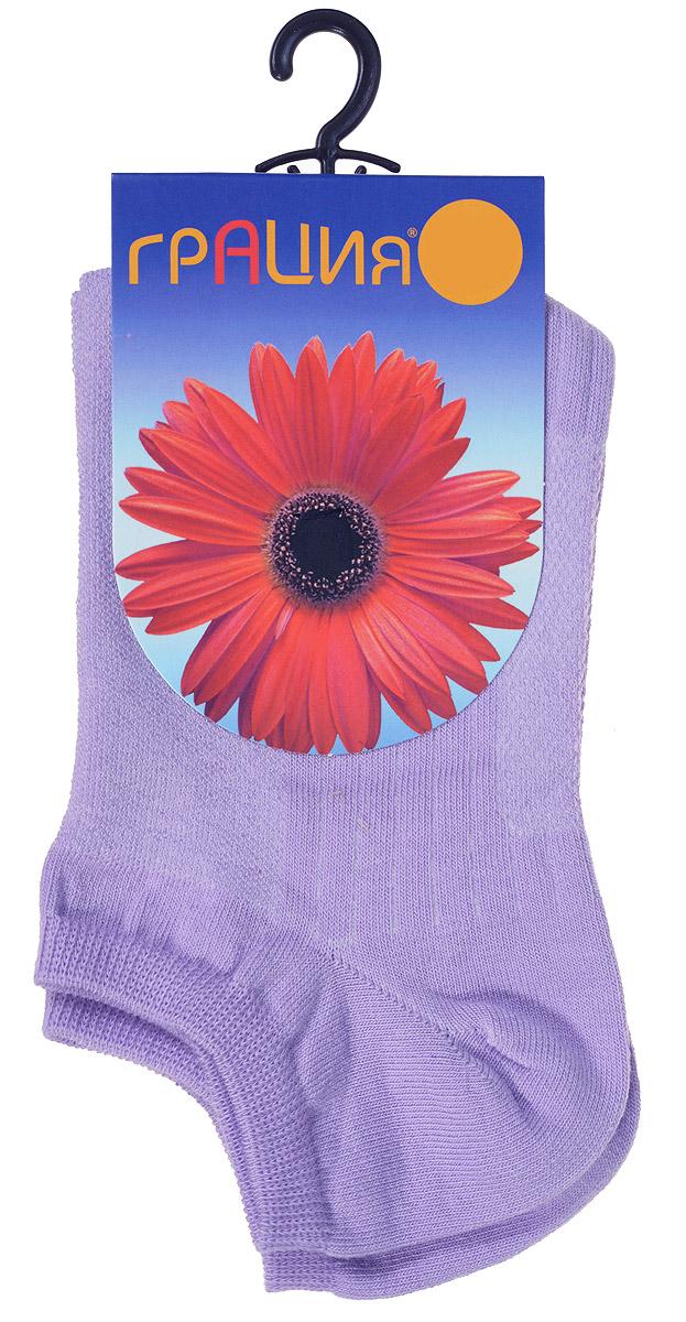 Носки женские Грация, цвет: сиреневый. М 1405. Размер 1 (35/37)М 1405Удобные женские носки Грация, изготовленные из высококачественного комбинированного материала, очень мягкие и приятные на ощупь, позволяют коже дышать. Эластичная резинка плотно облегает ногу, не сдавливая ее, обеспечивая комфорт и удобство. Носки с укороченным паголенком оформлены рельефными полосками.Удобные и комфортные носки великолепно подойдут к любой вашей обуви.