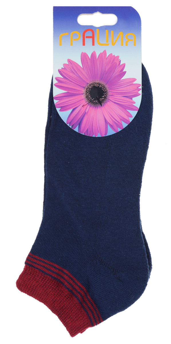 Носки женские Грация, цвет: темно-синий, бордовый. H 050. Размер 2 (38/40)H 050Теплые женские носки Грация, изготовленные из высококачественного комбинированного материала, очень мягкие и приятные на ощупь, позволяют коже дышать. Эластичная резинка плотно облегает ногу, не сдавливая ее, обеспечивая комфорт и удобство. Внутренняя часть стопы махровая. Носки с укороченным паголенком, который оформлен нежным принтом в полоску.Удобные и комфортные носки великолепно подойдут к любой вашей обуви.