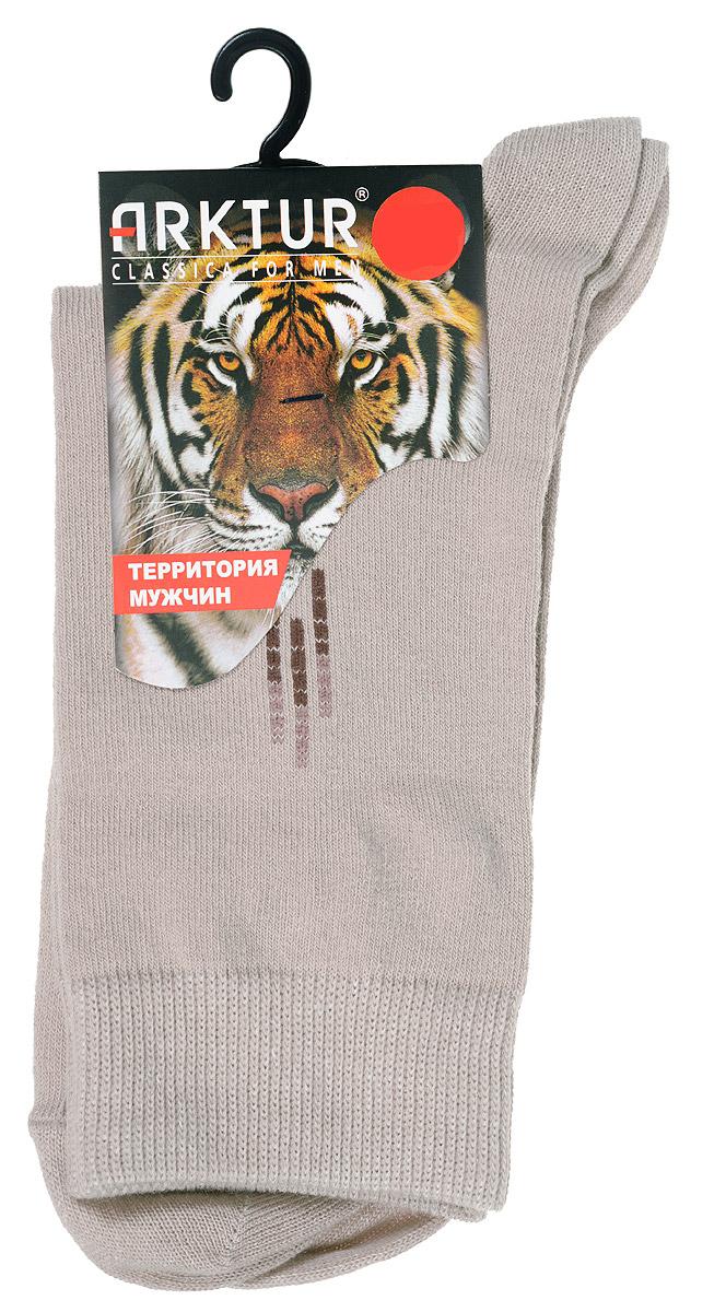Носки мужские Arktur, цвет: бежевый. J 008. Размер 43/45J 008Мужские носки Arktur с удлиненным паголенком изготовлены из хлопка с небольшим добавлением полиамида и лайкры. Комфортная широкая резинка пресс-контроль не сдавливает и комфортно облегает ногу. Идеальное сочетание практичности, легкости и комфорта.Удобные носки станут отличным дополнением к вашему гардеробу.