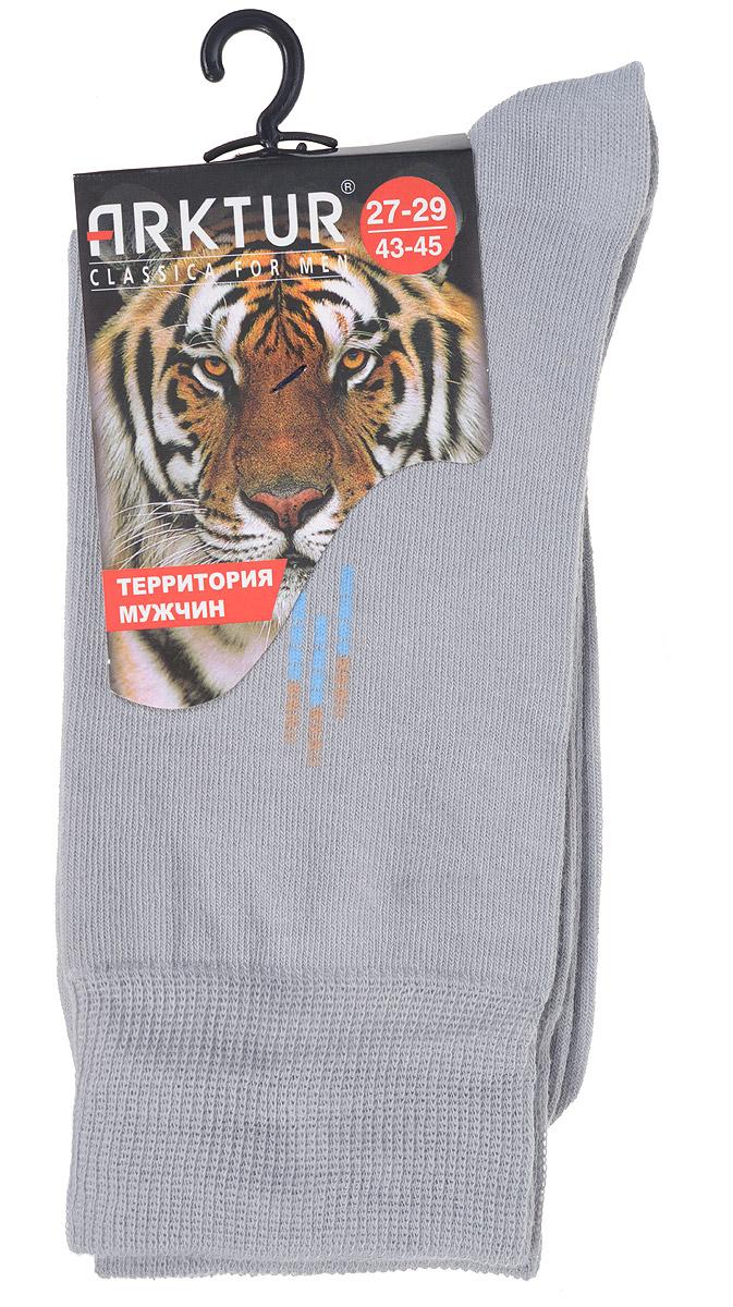 Носки мужские Arktur, цвет: светло-серый. J 008. Размер 40/42J 008Мужские носки Arktur с удлиненным паголенком изготовлены из хлопка с небольшим добавлением полиамида и лайкры. Комфортная широкая резинка пресс-контроль не сдавливает и комфортно облегает ногу. Идеальное сочетание практичности, легкости и комфорта.Удобные носки станут отличным дополнением к вашему гардеробу.