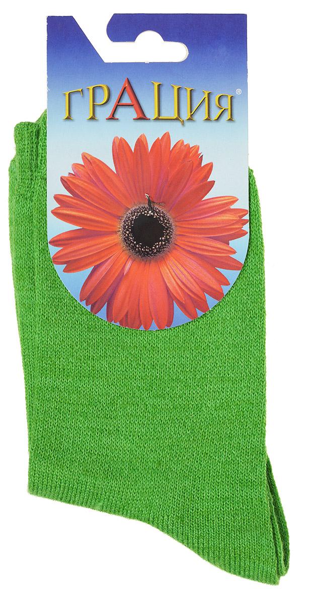Носки женские Грация, цвет: ярко-зеленый. М 1110. Размер 1 (35/37) носки женские грация цвет телесный м1059 размер 35 37
