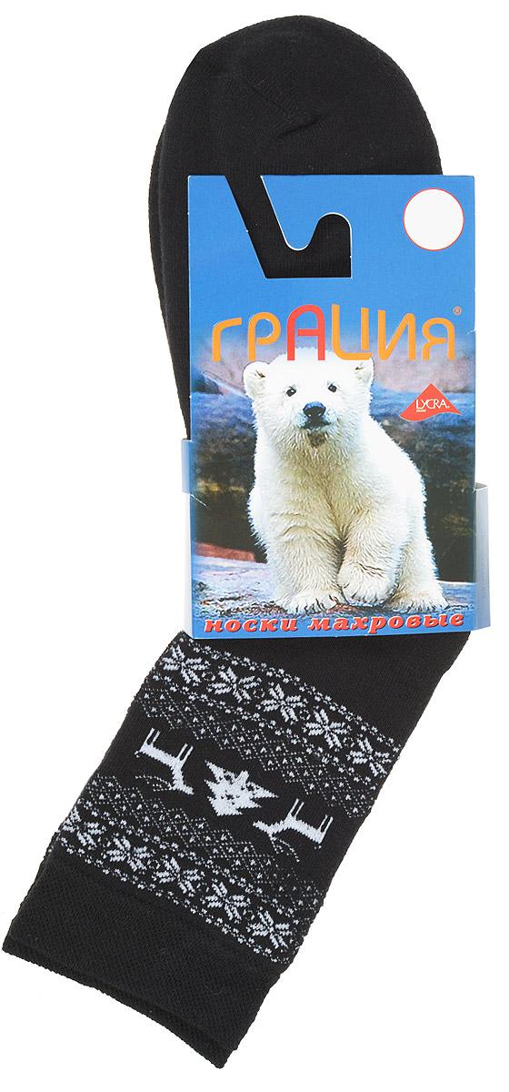 Носки женские Грация, цвет: черный, белый. М 1082. Размер 2 (38/40) носки женские грация цвет светло серый h 003 размер 38 40