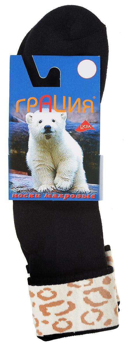 Носки женские Грация, цвет: черный, молочный, бежевый. М 1081. Размер 1 (35/37)М 1081Теплые женские носки Грация, изготовленные из высококачественного комбинированного материала, очень мягкие и приятные на ощупь, позволяют коже дышать. Эластичная резинка плотно облегает ногу, не сдавливая ее, обеспечивая комфорт и удобство. Махровые носки со стандартным паголенком, который оформлен небольшим отворотом с ярким принтом.Удобные и комфортные носки великолепно подойдут к любой вашей обуви.