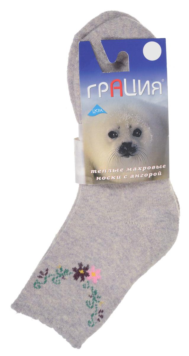 Носки женские Грация, цвет: светло-бежевый, сиреневый. М 1106. Размер 2 (38/40)М 1106Теплые женские носки Грация, изготовленные из высококачественного комбинированного материала, очень мягкие и приятные на ощупь, позволяют коже дышать. Эластичная резинка плотно облегает ногу, не сдавливая ее, обеспечивая комфорт и удобство. Махровые носки имеют паголенок стандартной длинны и оформлены цветочным принтом.Удобные и комфортные носки великолепно подойдут к любой вашей обуви.