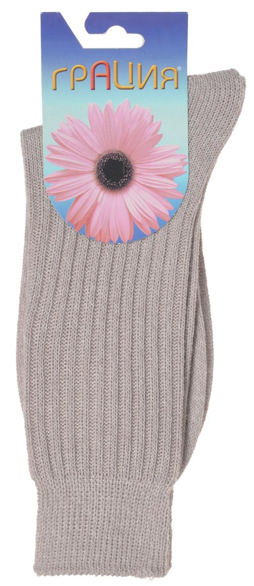 Носки женские Грация, цвет: телесный. М 1109. Размер 1 (35/37)М 1109Теплые женские носки Грация, изготовленные из высококачественного комбинированного материала, очень мягкие и приятные на ощупь, позволяют коже дышать. Эластичная резинка плотно облегает ногу, не сдавливая ее, обеспечивая комфорт и удобство. Носки связанные резинкой 2х2 имеют удлиненный паголенок. Модель оформлена рельефным принтом в полоску.Удобные и комфортные носки великолепно подойдут к любой вашей обуви.
